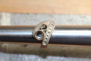 Custom designed ring after casting